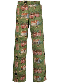 Chinatown Market woven tapestry trousers