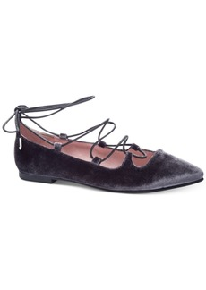 fe453db9098 Chinese Laundry Chinese Laundry Endless Summer Velvet Lace-Up Flats Women s  Shoes Now  24.16