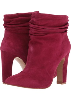 Chinese Laundry Kristin Cavallari Women's Kane Ankle Bootie red Suede  M US