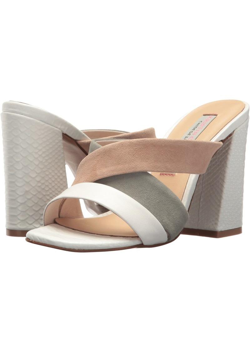 Chinese Laundry Kristin Cavallari Women's LOLA Heeled Sandal White/sage/Tiger  M US