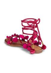 Chinese Laundry Portia Pom Embellished Wraparound Sandal (Women)