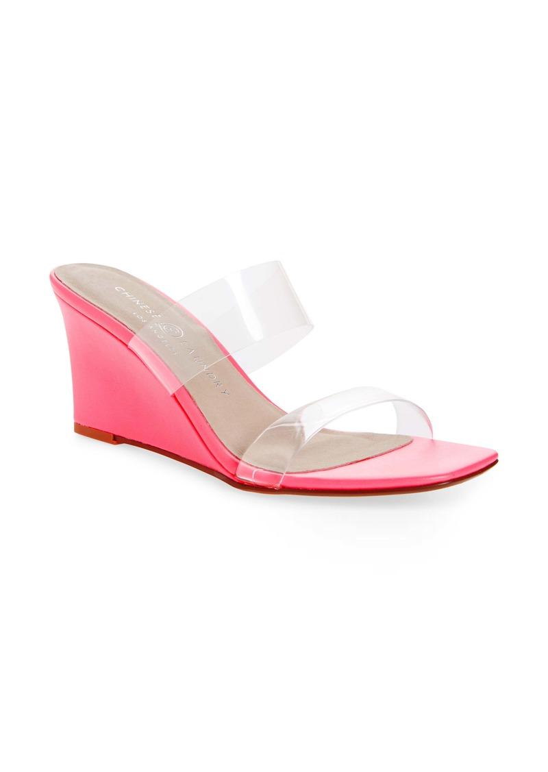 Chinese Laundry Tann Wedge Slide Sandal (Women)
