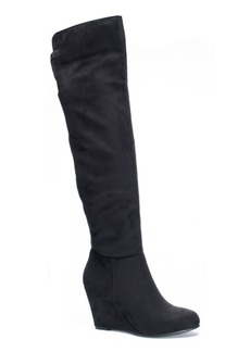 Chinese Laundry Unforgettable Over the Knee Wedge Boots Women's Shoes