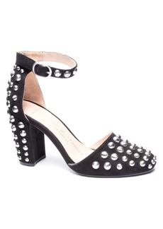 Chinese Laundry Vegas Block Heel Studded Pumps Women's Shoes