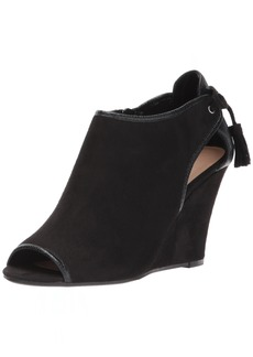 CL by Chinese Laundry Women's Brinley Wedge Pump Black Suede-Snake