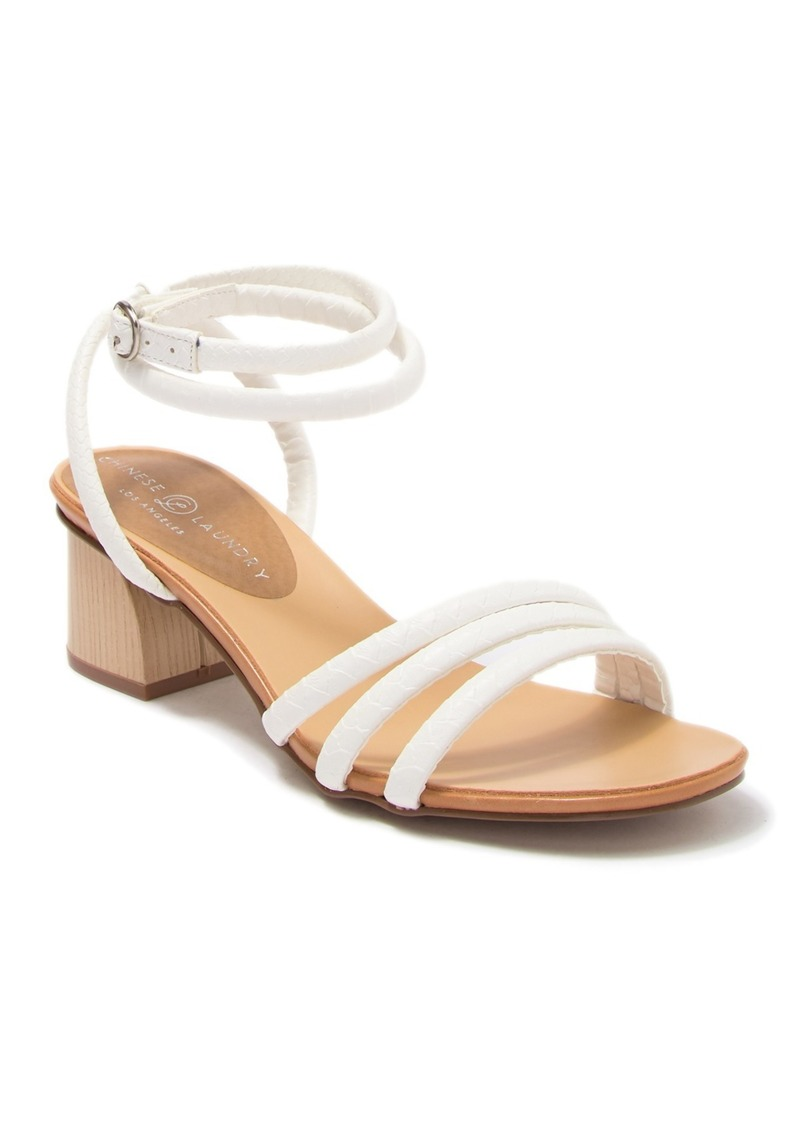 Chinese Laundry Montezuma Mightly Snake-Embossed Ankle Strap Sandal
