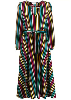 Chinti and Parker belted striped long dress
