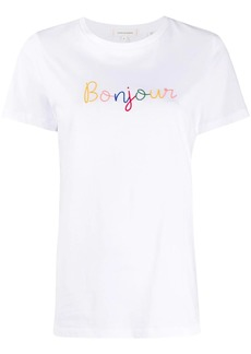 Chinti and Parker Bonjour embroidered T-shirt