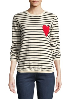 Chinti and Parker Breton Striped Cashmere Intarsia Sweater