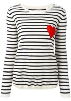 Chinti and Parker cashmere Breton stripe heart jumper