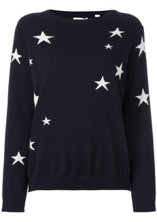 Chinti and Parker cashmere slouchy star intarsia sweater
