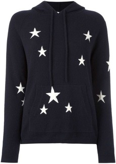 Chinti and Parker cashmere star intarsia hooded sweater