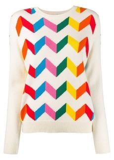 Chinti and Parker chevron stripe jumper