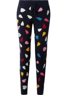 Chinti and Parker Confetti Heart cashmere track pants