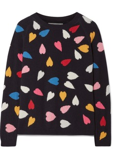 Chinti and Parker Confetti Heart printed cashmere sweater