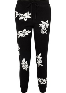 Chinti and Parker Hibiscus cashmere track pants