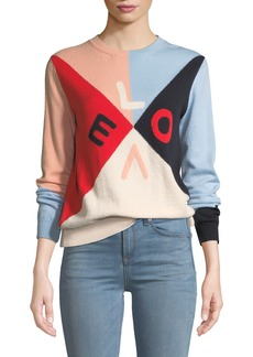 Chinti And Parker Mexicano Love Colorblock Cashmere Sweater