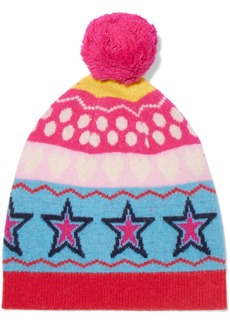 Chinti and Parker Ski Party wool-jacquard beanie