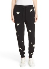 Chinti and Parker Star Knit Cashmere Track Pants