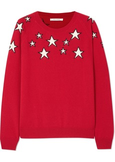 Chinti and Parker Stardust intarsia cashmere sweater