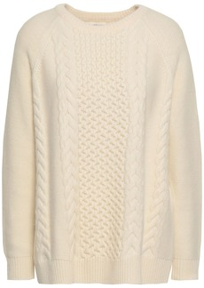 Chinti And Parker Woman Cable-knit Wool And Cashmere-blend Sweater Ecru
