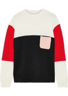 Chinti And Parker Woman Color-block Cashmere Sweater Multicolor