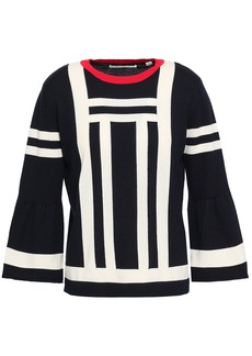 Chinti And Parker Woman Intarsia Cotton Sweater Navy