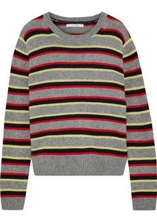 Chinti And Parker Woman Striped Cashmere Sweater Gray
