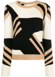 Chinti and Parker colour block crew neck sweater