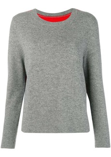 Chinti and Parker contrast back panel sweater