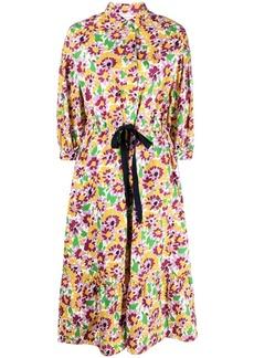 Chinti and Parker floral-print midi shirt dress