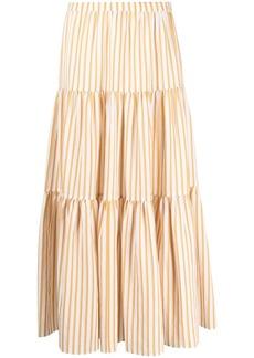 Chinti and Parker tiered striped midi dress