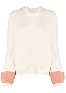 Chinti and Parker ribbed-knit contrast jumper