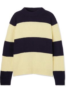 Chinti and Parker Sombrero Striped Wool-blend Sweater
