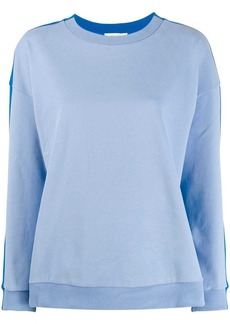 Chinti and Parker stripe panel sweatshirt