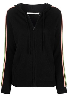 Chinti and Parker striped-sleeve knit hoodie