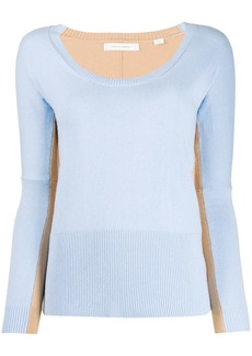 Chinti and Parker two-tone knitted top
