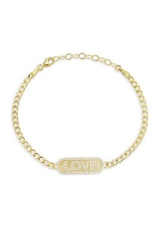 Chloé 14K Gold Vermeil & Crystal Bracelet