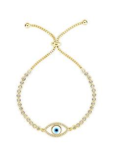 Chloé 14K Gold Vermeil & Crystal Evil Eye Tennis Bracelet