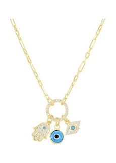 Chloé 14K Gold Vermeil & Crystal Necklace