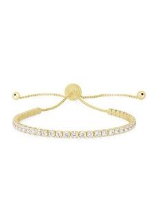 Chloé 14K Gold Vermeil & Cubic Zirconia Bolo Bracelet