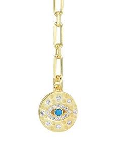 Chloé 14K Gold Vermeil, Sterling Silver & Crystal Lariat Necklace