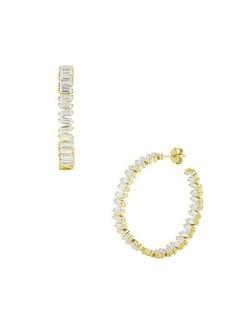 Chloé 14K Gold Vermiel Hoop & Crystal Earrings
