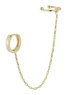 Chloé 14K Goldplated Sterling Silver Hoop & Chain Single Ear Cuff