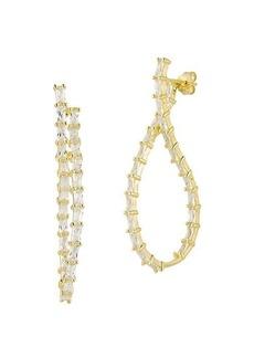 Chloé 14K Yellow Gold Vermeil & Cubic Zirconia Twist Hoop Earrings
