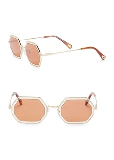 Chloé 53MM Hexagon Sunglasses