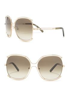 Chloé 59mm Butterfly Sunglasses