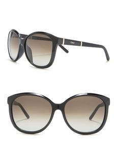 Chloé 59mm Large Cat Eye Sunglasses