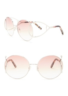 Chloé 60mm Modified Round Sunglasses
