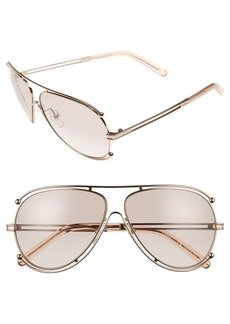 Chloé Chlo? 'Isidora' 61mm Aviator Sunglasses